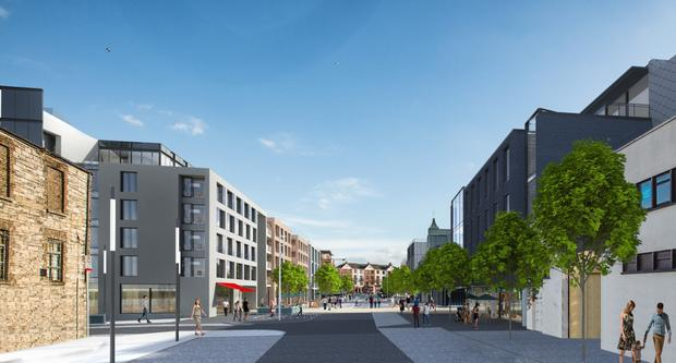 Artist's impressions of the proposed Newmarket Square development, to include a hotel, micro brewery and apartments