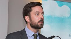 Minister for Housing Eoghan Murphy speaking at the Irish Council for Social Housing AGM 2017 at the Aishling Hotel in Dublin