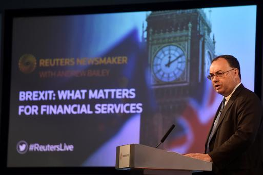 Andrew Bailey, CEO of the Financial Conduct Authority, speaks during a