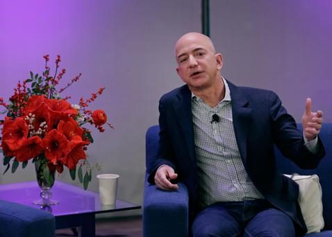 Web services is the most profitable unit – with €12.2bn sales last year – for Amazon CEO Jeff Bezos. Photo: Bloomberg