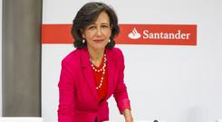 Santander, chaired by Ana Botin, has agreed to buy US property investor's stake in a unit of Spain's Banco Popular. Photo: Bloomberg