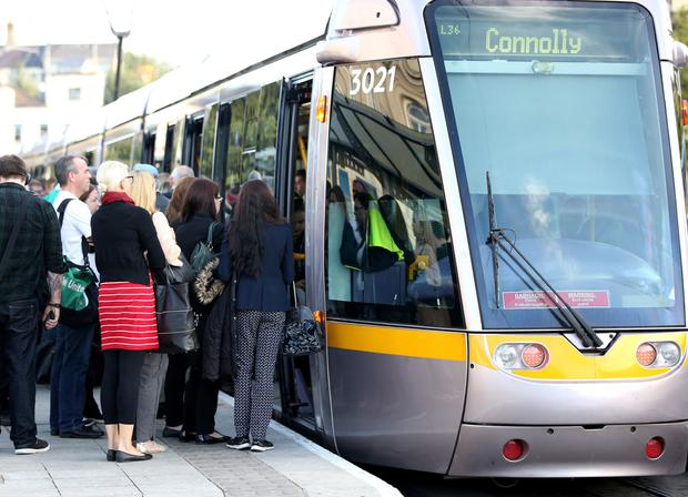 The number of people using public transport has increased by 21 percent (stock image)