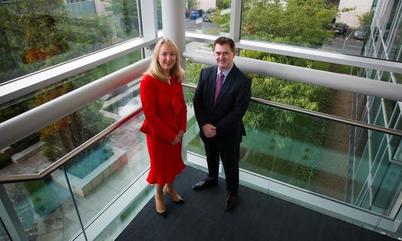 'Financial discipline is important to us,' said Glanbia CEO Siobhan Talbot, pictured with group finance director Mark Garvey. Photo: Jack Caffrey