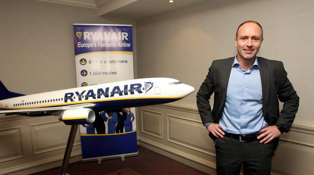 Kenny Jacobs, Ryanair's chief marketing officer, says the airline is aiming to sell seats for other airlines on its digital platform. Photo: Tom Burke