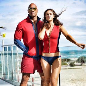 Dwayne Johnson and Alexandra Daddario in Baywatch, which was overshadowed by Dunkirk
