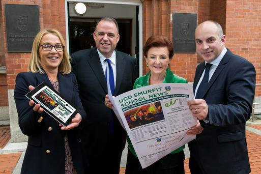 Damien McLoughlin, Professor of Marketing, UCD Smurfit School; Orlagh Nevin director of sales, marketing and service, Open Eir; Breege O'Donoghue, former executive director at Penneys/Primark; and Irish Independent Business Editor Donal O'Donovan, chairman BJAI.
