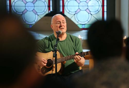 Aside from his solo career, veteran entertainer Christy Moore (72) also founded the groups Moving Hearts and Planxty