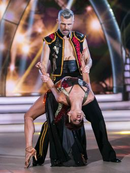 Des Bishop with dance partner Giulia Dotta on RTE's 'Dancing with the Stars' reality show
