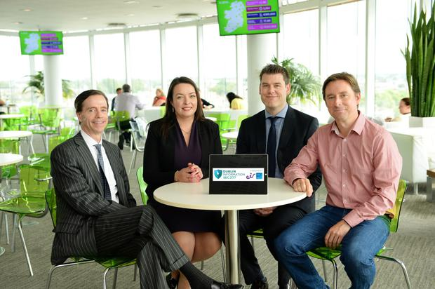 Bill Archer, managing director of Eir Business; Cliona Carroll, sponsorship and events manager, INM; Paul Kavanagh, country manager Cisco Ireland; and Adrian Weckler, technology editor, INM