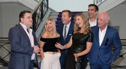 Simon Delaney, Laura Woods, Alan Hughes, Anna Daly, Tommy Martin and Mark Cagney as TV3 unveiled its programming. Photo: Brian McEvoy