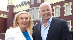 Sean Gallagher with Eithne Scott Lennon, owner and ceo of Fitzpatrick Castle Hotel in Dublin. Photo: Justin Farrelly