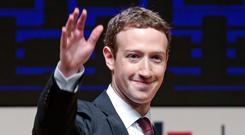 Facebook boss Mark Zuckerberg Photo: AP