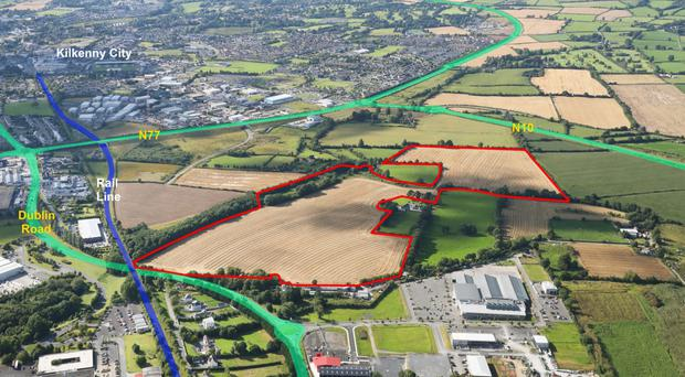 Zoned 67-acre land bank in Kilkenny city guiding at €2m