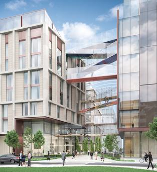 Developer Johnny Ronan's proposed hotel at Spencer Place