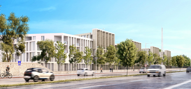 An artist's impression of how the RTE site might look following the development of apartments