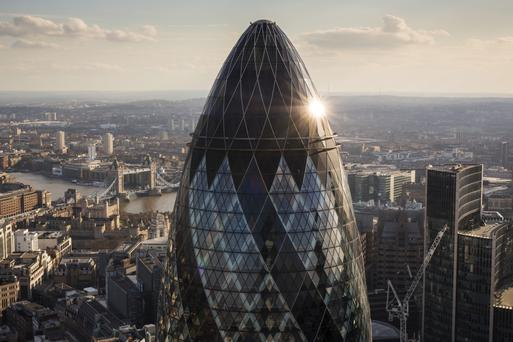 The €272m side is near the landmark Gherkin building, above