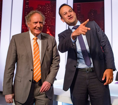 Vincent Browne's last TV3 show, with Taoiseach Leo Varadkar.