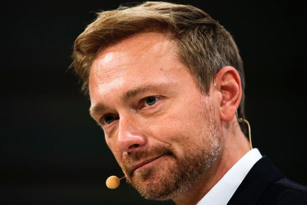 Christian Lindner, leader of the German Liberal Party Pic: AP