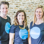 Cool Planet Experience's head of public engagement Philip Smyth, design co-ordinator Sinead Crowley, and CEO Vicky Brown, who have launched a programme to help explain climate issues.