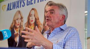 Ryanair chief executive Michael O'Leary is trying to switch the messaging after its dismissive claim that only 2pc of its flights were affected. Photo: Colin Keegan