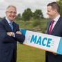 Leo Crawford, chief executive, BWG Group, with Daniel O'Connell, Mace sales director. Photo: Naoise Culhane