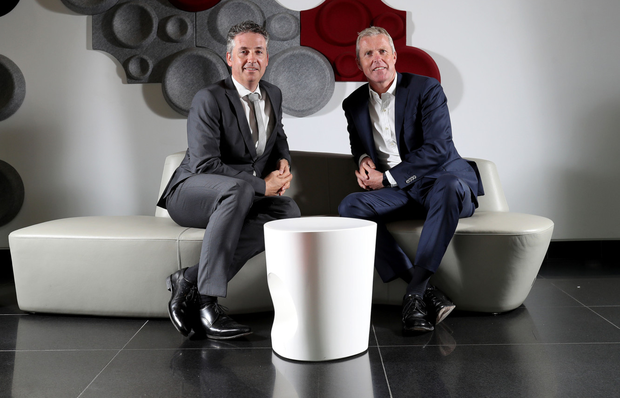 BT Ireland managing director Shay Walsh and Sky Ireland managing director JD Buckley