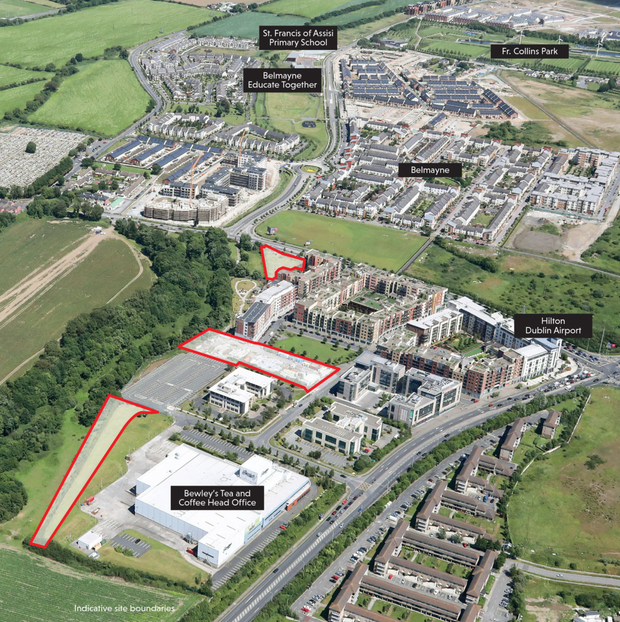 The three sites at Northern Cross, off the Malahide Road in North Dublin, are located within a Strategic Development and Regeneration Area.