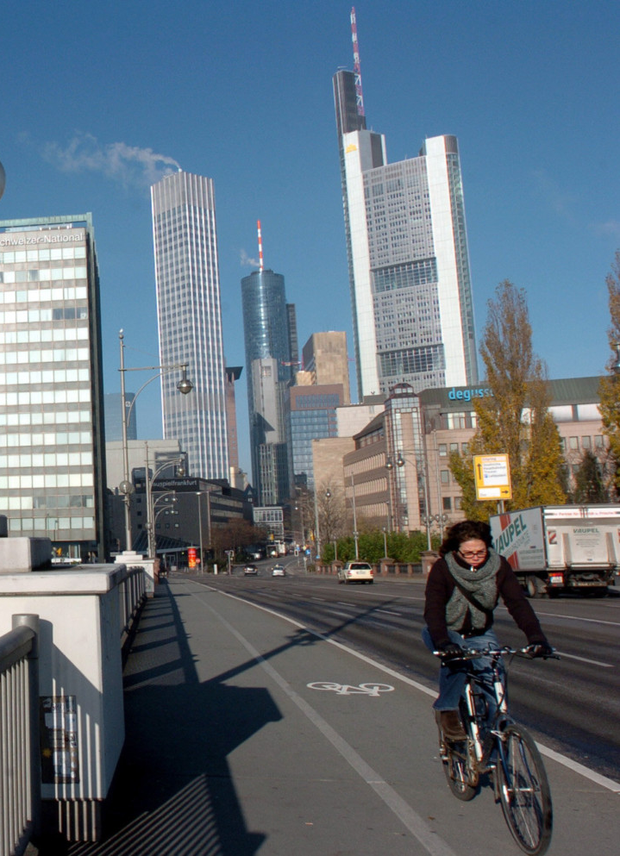Rents in Frankfurt have risen by 50pc since 2006. Photo: Bloomberg