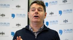 There has been speculation that Finance Minister Paschal Donohoe might use tax levers to help alleviate the housing crisis and speed up building. Photo: Conor McCabe Photography