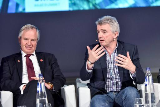 Norwegian boss Bjorn Kjos and his Ryanair counterpart, Michael O'Leary, in happier times