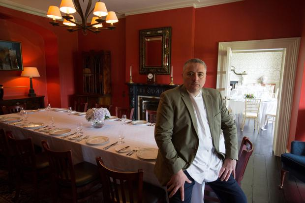 Celebrity chef Richard Corrigan says he is 'taking it gently' at his Virginia Park Lodge in Co Cavan where he has invested millions