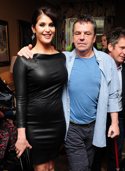 Actress Gemma Arterton and Neil Jordan at the gala screening of his most recent movie, Byzantium