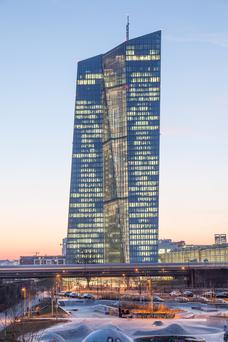 European Central Bank HQ in Frankfurt – a new ECB report exposes the scale of bank closures