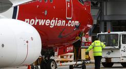 """Norwegian, which launched flights between Ireland and the United States during the summer, said that its third quarter was """"characterised by strong international passenger growth and a high load factor, as well as fleet growth and renewal"""". Photo: Bloomberg"""