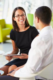 Make sure the follow-up meeting takes place in your office or another professional environment (stock pic)
