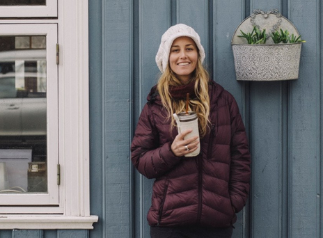 Professional snowboarder Chanelle Sladics, one of the brand ambassadors for Amazing Grass in the United States.
