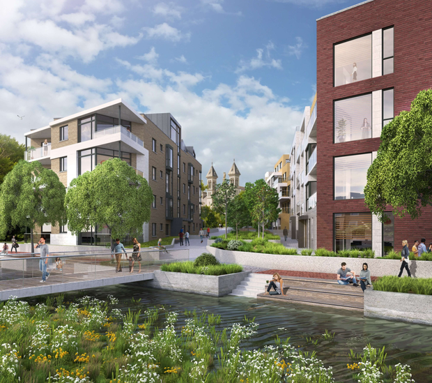 An artist's impression of the Mount Argus apartments in Harold's Cross, one of four developments in Marlet's €450m 'Dublin Living' portfolio
