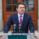 Finance Minister Paschal Donohoe sprung a surprise when he announced the increase would apply to the sale of business assets Photo: Collins