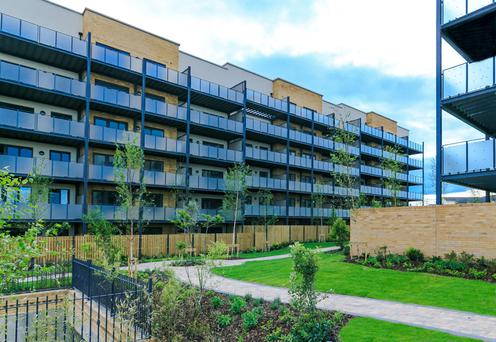 'The Square', a development of 128 apartments at Hampton Wood, is being offered for sale to the build-to-rent investor market
