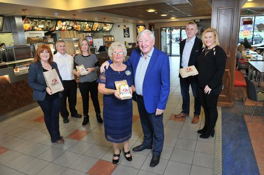 Denis 'Dino' Cregan, the 77-year-old founder of Dino's, with wife Mary and children Christine, Sean, Mary, Derek and Denise. Picture: Daragh McSweeney/Provision