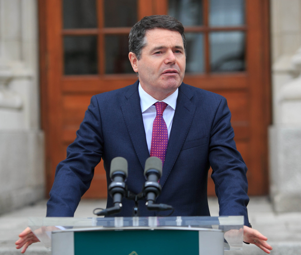 Comments: Finance Minister Paschal Donohoe. Photo: Collins