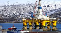 Oil rig in Tromso