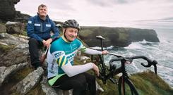 Keith Mongan and Michael O'Boyle of Pedal and Putt on the Wild Atlantic Way in Co Clare. Photo: Eamon Ward