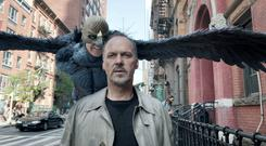 Actor Michael Keaton in a scene from Birdman, produced by Christopher Woodrow