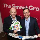 Sean Gallagher with Tom Ryan of The Smart Group Photo: Damien Eagers