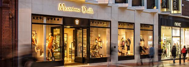 The Massimo Dutti shop on Dublin's Grafton Street