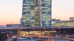 European Central Bank HQ in Frankfurt. Stock photo