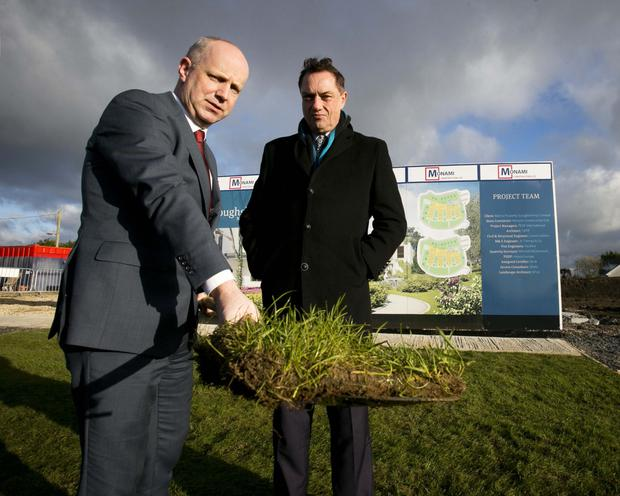 Minister Jim Daly and Bartra Capital Property's Richard Barrett