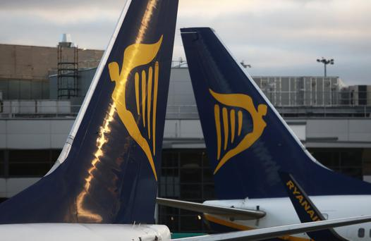 """Ryanair's dismissal of a pilot in 2001 led others to believe that being a staff representative in the company was """"a very dangerous thing"""", the High Court was told. Stock image"""