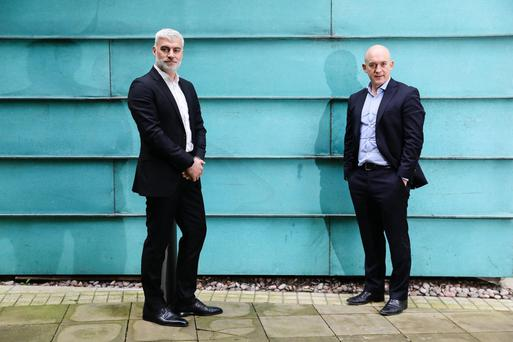 Metadigm director Jason Simper and Integrity360 CEO Eoin Goulding announce the buyout which is part of a UK expansion strategy